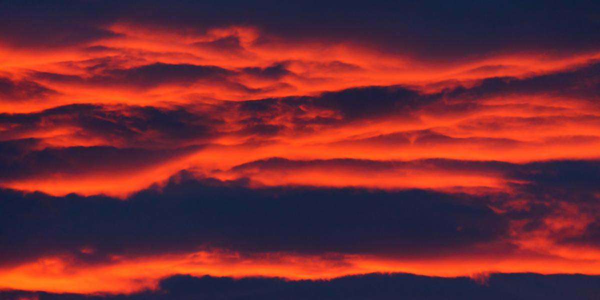 Orange twilight clouds - Bushfires Fundraiser November 2019