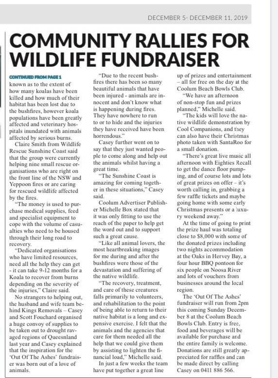 Coolum Beach Wildlife Fundraiser