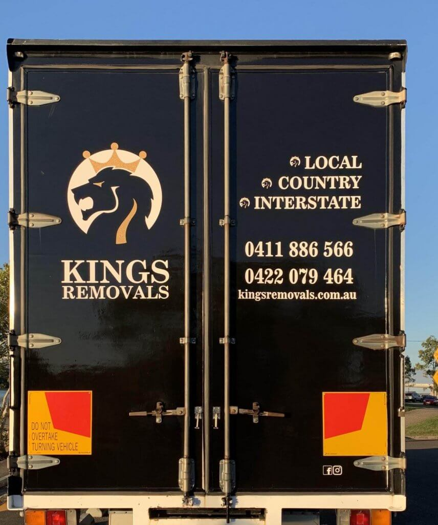 Removal truck signage - Kings Removals Coolum